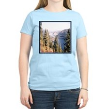 Lake Coeur d'Alene Idaho Women's Pink T-Shirt