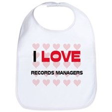 I LOVE RECORDS MANAGERS Bib