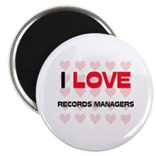 I LOVE RECORDS MANAGERS Magnet