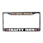 Crafty Mom Crafts License Plate Frame