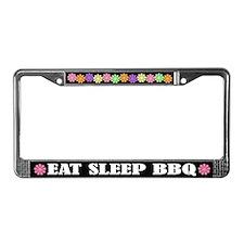Eat Sleep BBQ License Plate Frame