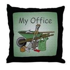 Garden Tool Throw Pillow