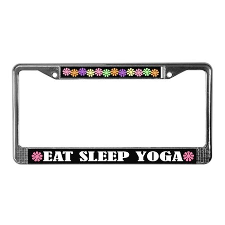 Eat Sleep Yoga License Plate Frame
