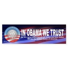 In Obama We Trust Bumper Bumper Sticker