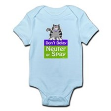 Don't Delay (Cat) - Neuter or Spay Infant Bodysuit