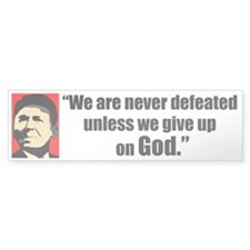 Reagan Quote - We are never Bumper Bumper Sticker