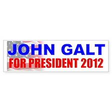 John Galt for President Bumper Car Sticker