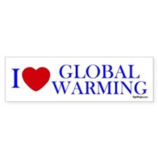 I Love Global Warming Bumper Sticker (10 pk)