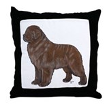 Newfoundland Bronze Throw Pillow