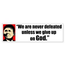 Reagan Quote - We are never Bumper Sticker (10 pk)