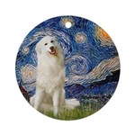 Starry Night / Pyrenees Ornament (Round)