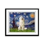 Starry Night / Pyrenees Framed Panel Print