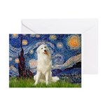Starry Night / Pyrenees Greeting Cards (Pk of 10)