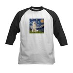 Starry Night / Pyrenees Kids Baseball Jersey