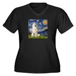 Starry Night / Pyrenees Women's Plus Size V-Neck D