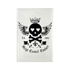 Skull and Crossbones w/Wings Rectangle Magnet