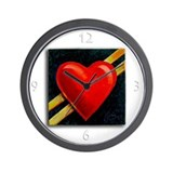 My Heart's on the Line Wall Clock