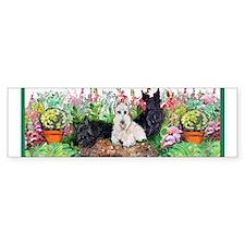 Scottie Garden Patrol Bumper Sticker