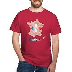 France Map Dark T-Shirt