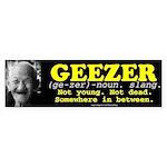 GEEZER Bumper Sticker