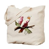 Pink Cockatoo Birds Tote Bag