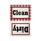 Plaid Clean/Dirty Dishwasher Magnet