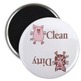 Round Dirty Pig Dishwasher Magnet