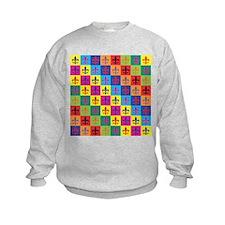 Pop Art Fleur De Lis Sweatshirt