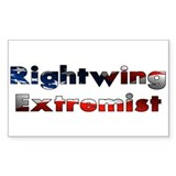 Rightwing Extremist Rectangle Decal