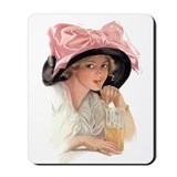 Pink Bow Hat Mousepad
