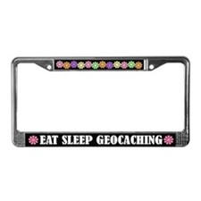 Eat Sleep Geocaching License Plate Frame