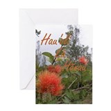 Native Lehua Birthday Greeting Card