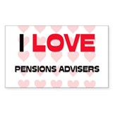 I LOVE PENSIONS ADVISERS Rectangle Decal