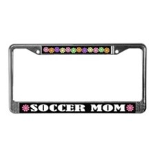 Cute Soccer Mom License Frame Gift
