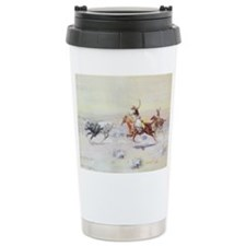 Vintage Cowboy Ceramic Travel Mug