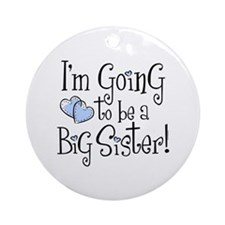Heart New Big Sister Ornament (Round)