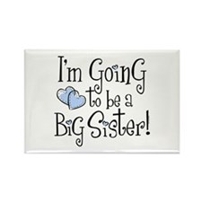 Heart New Big Sister Rectangle Magnet