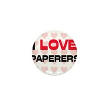 I LOVE PAPERERS Mini Button (10 pack)