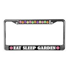 Eat Sleep Garden License Plate Frame
