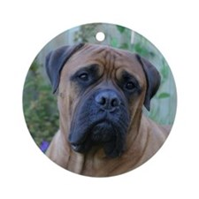 Thoughtful Bull Mastiff Ornament (Round)
