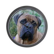 Thoughtful Bull Mastiff Wall Clock