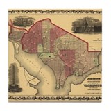 Washington DC (1862) Tile Coaster