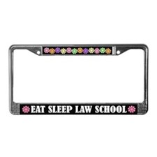 Eat Sleep Law School License Plate Frame