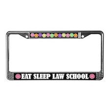 Eat Sleep Law School License Plate Frame