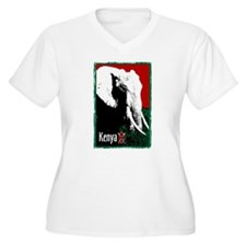 Kenyan Elephant Design T-Shirt