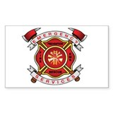 Fire Department Rectangle Sticker 50 pk)