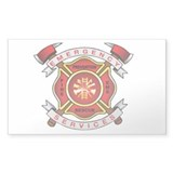 Fire Department Rectangle Decal