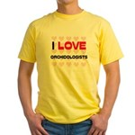 I LOVE ORCHIDOLOGISTS Yellow T-Shirt