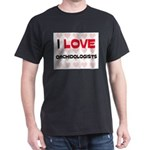 I LOVE ORCHIDOLOGISTS Dark T-Shirt