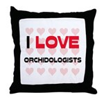 I LOVE ORCHIDOLOGISTS Throw Pillow